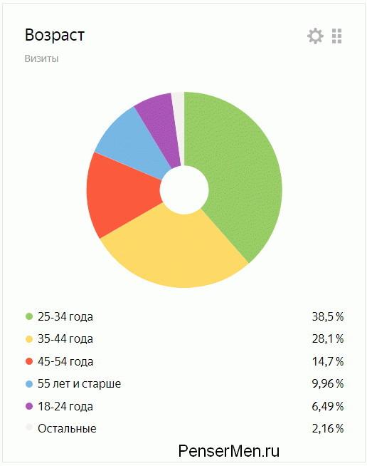 Лучший возраст посетителей блога ПенсерМен с темой Root