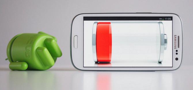 Разрядка аккумулятора телефона