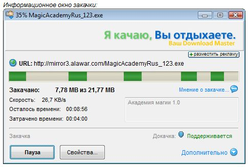 Менеджер закачек Download Master - Информационное